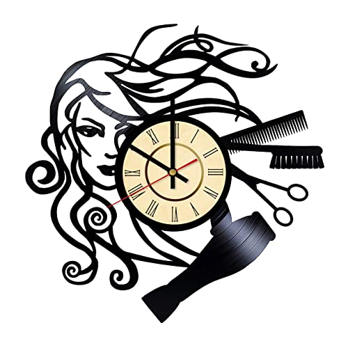 Amazon Com Hair House Vinyl Clock T For Hairdresser Beauty Salon