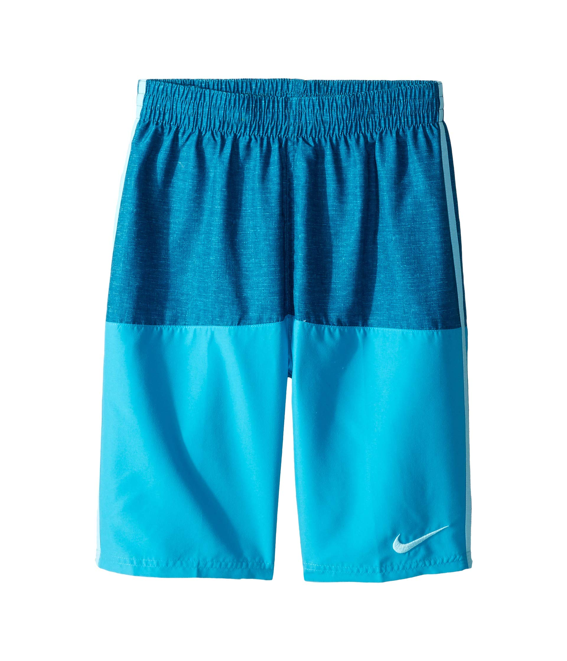 Nike Kids Boy's 8'' Linen Split Volley Shorts (Little Kids/Big Kids) Green Abyss X-Large