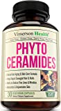 Phytoceramides Skin Care, Hair & Nails Supplement - Natural Anti Aging, Rejuvenating & Moisturizing Formula with Vitamin A C D E. Reduces Fine Lines, Wrinkles, Facial Redness, Dryness & Dark Spots