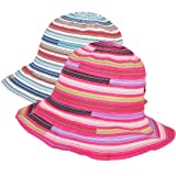 kilofly 2pc Soft Brim Outdoor Summer Beach Sun