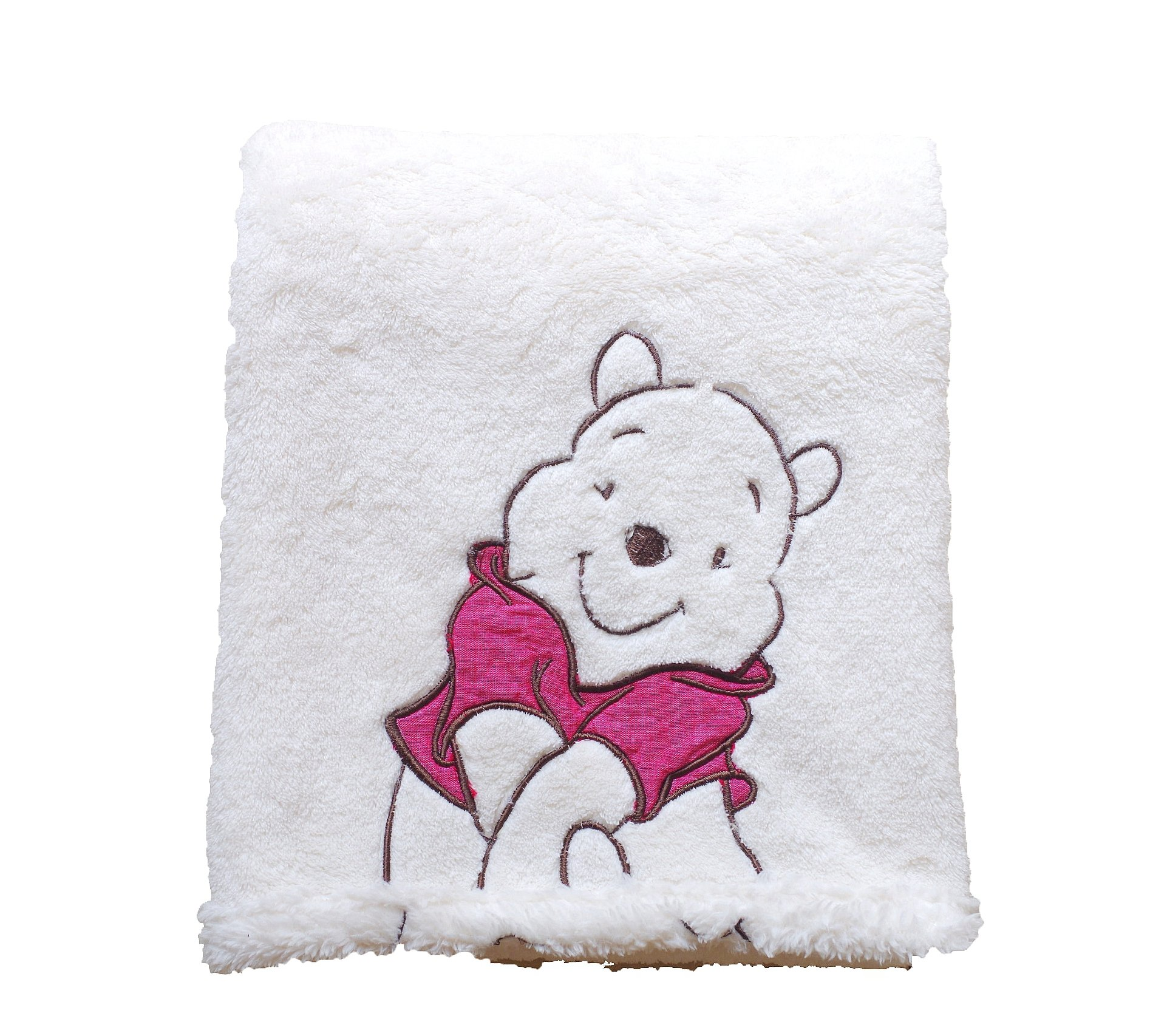 Cozy Line Home Fashions Super Soft Coral Fleece Baby Blanket, Cute Animal Pattern, 40'' X 30'' Cozy, Comfortable & Warm , Best Gift for Baby Boy Baby Girl (Ivory Winnie The Pooh)