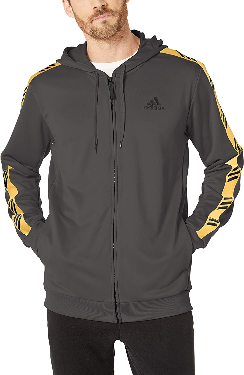 adidas 08496 Pro Madness Hoodie Capucha, Gris, Extra-Large para Hombre