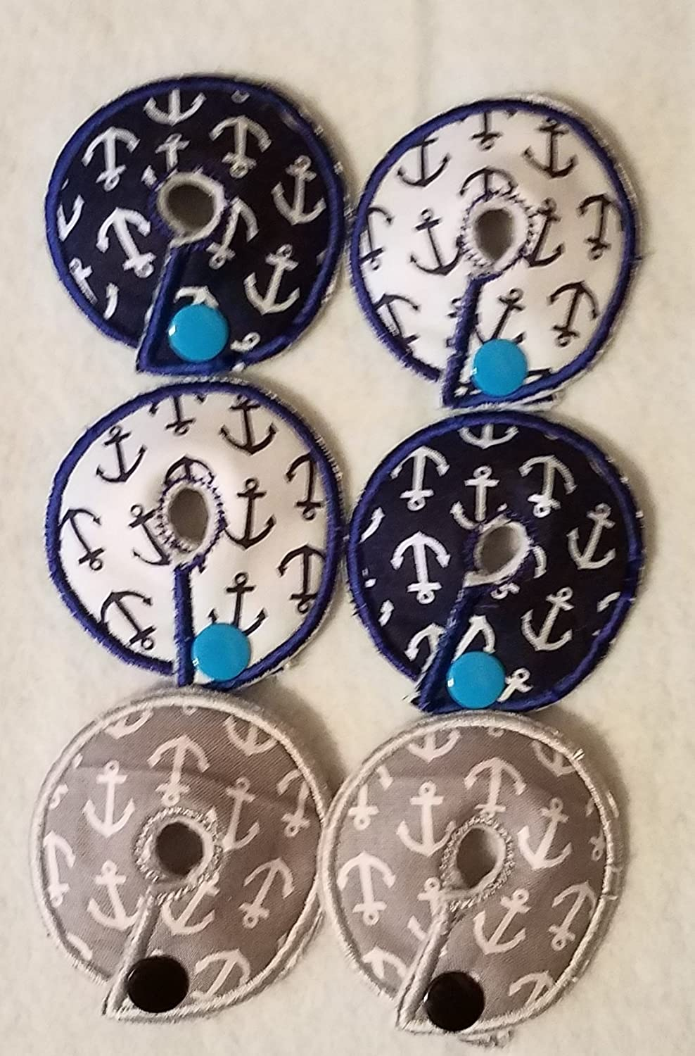 Adorable Pads G/J Tube Pad 6 Pack (anchor1) Organic Bamboo Extra Soft Fleece Next to the Skin