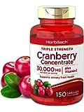 Horbaach Cranberry (30,000 mg) + Vitamin C 150 Capsules | Triple Strength Ultimate Potency | Non-GMO, Gluten Free…
