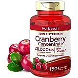 Horbaach Cranberry (30,000 mg) + Vitamin C 150 Capsules | Triple Strength Ultimate Potency | Non-GMO, Gluten Free Cranberry P