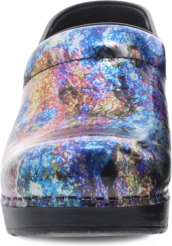 Dansko Damen Professional Clog, gepunktet Metallic Wash p3wma