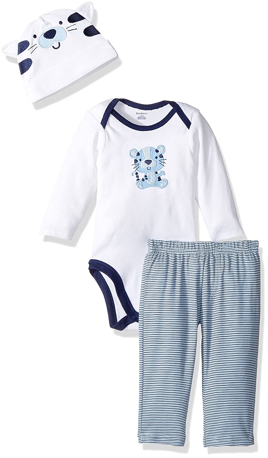 Gerber Baby Boys' 3 Piece Bodysuit, Cap and Pant Set Gerber Children's Apparel FA17AB