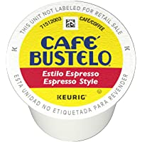Café Bustelo Espresso Style K-Cup Pods for Keurig Brewers, Dark Roast Coffee, 72 Count