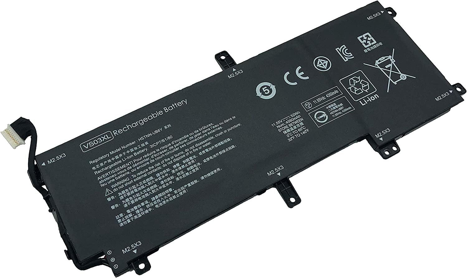 Tinkerpal VS03XL 11.55V 52WH Replacement Laptop Battery for HP Envy 15 Series 15-as001ng 15-as014wm 15-as025TU 15-as027TU 15-as032TU 15-as101ng 849047-541 849313-850 TPN-I125 HSTNN-UB6Y