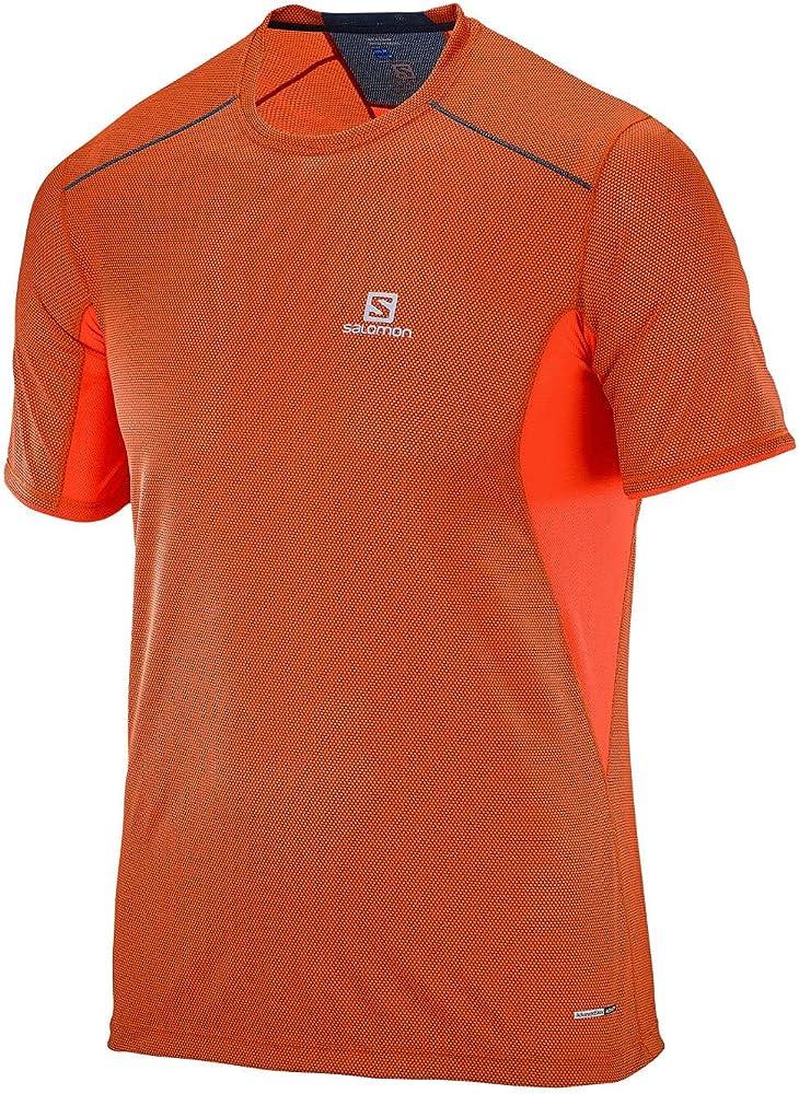 SALOMON MC Trail Runner SS tee M Camiseta, Hombre, Naranja (Vivid ...