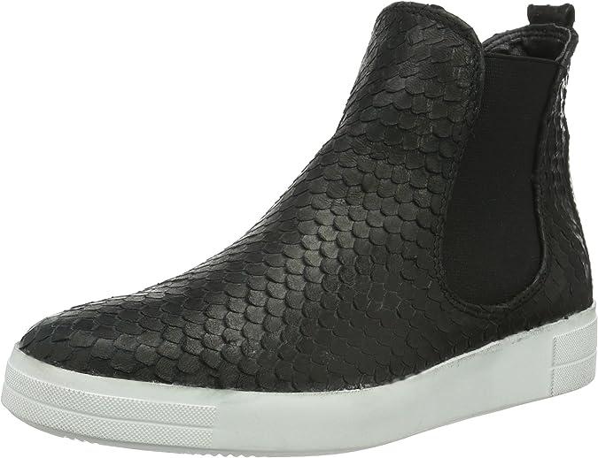 Tamaris 1-1-25041-25 021 Schuhe Damen Leder Stiefeletten balck struct schwarz
