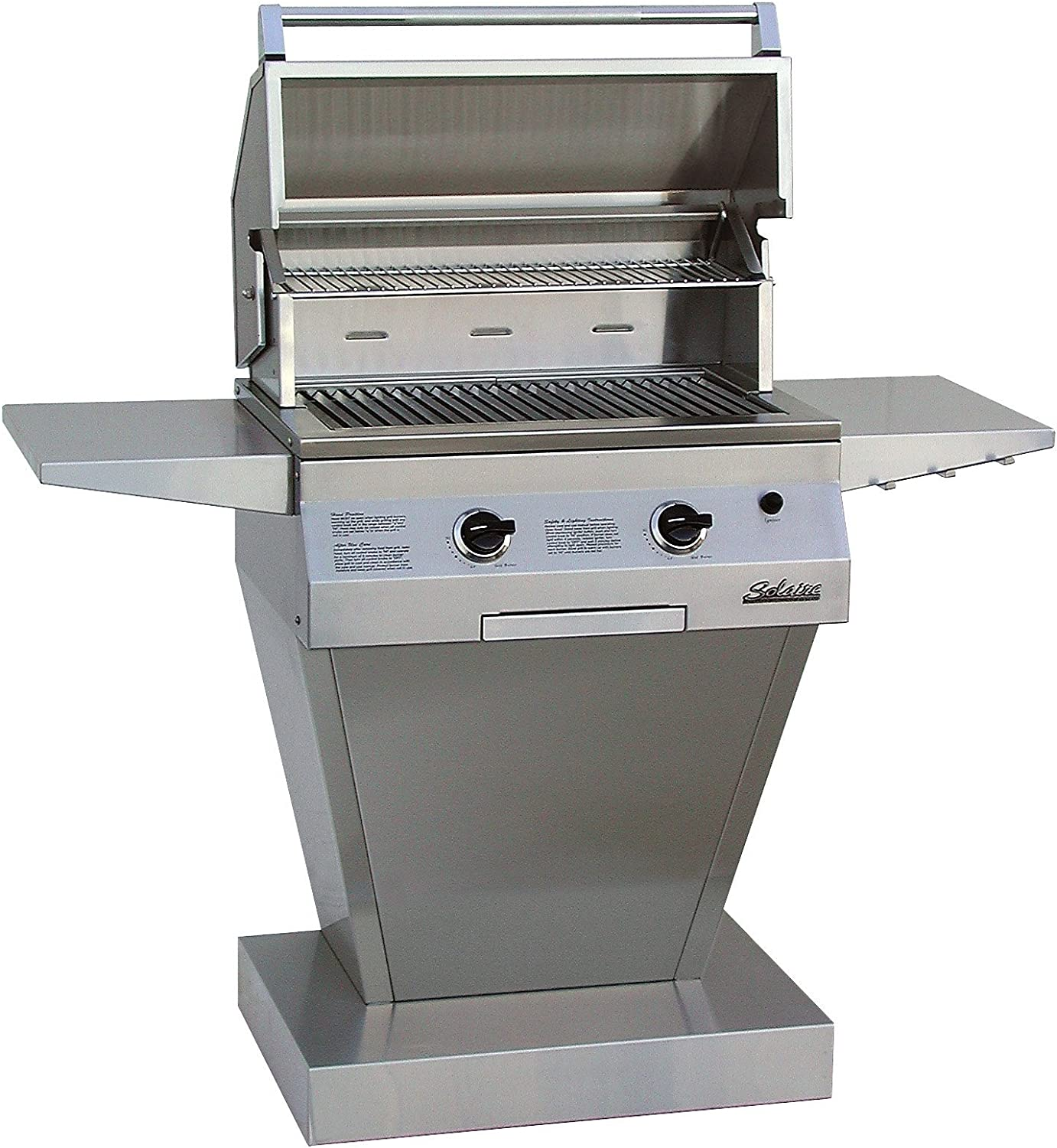 Solaire 27-Inch Basic Infrared Propane Pedestal Grill, Stainless Steel