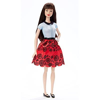 Barbie Fashionistas Doll 19 Ruby Red Floral - Original: Toys & Games