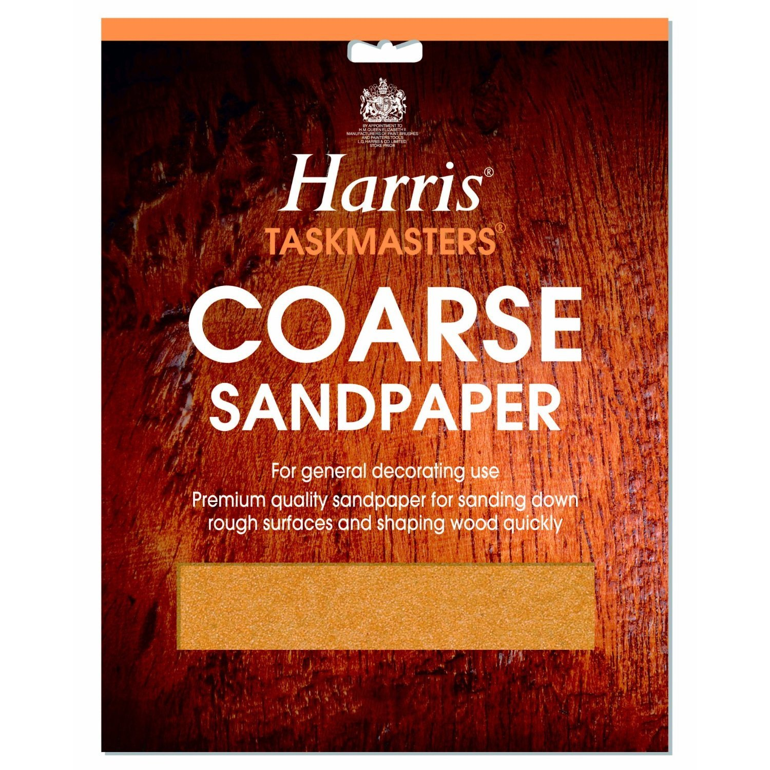 LG Harris Coarse Sandpaper Pack of 4