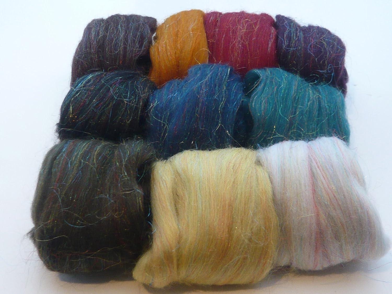 Single Shade {Group C} Needle Felting Wool 100 grams 3.5 Oz Aquamarine 83 Wool Batt Craft Wool Carded Wool For Felting