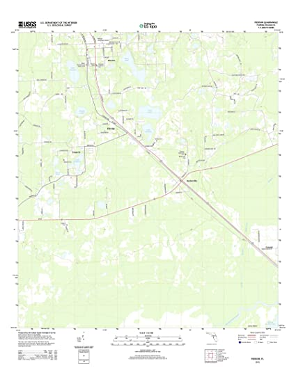 Amazon Com Topographic Map Poster Pierson Fl Tnm Geopdf 7 5x7 5