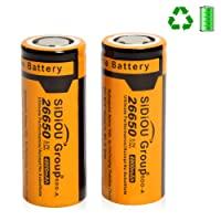 Sidiou Group 26650 Lithium Ion Battery Protected 3.7V 4800mAh