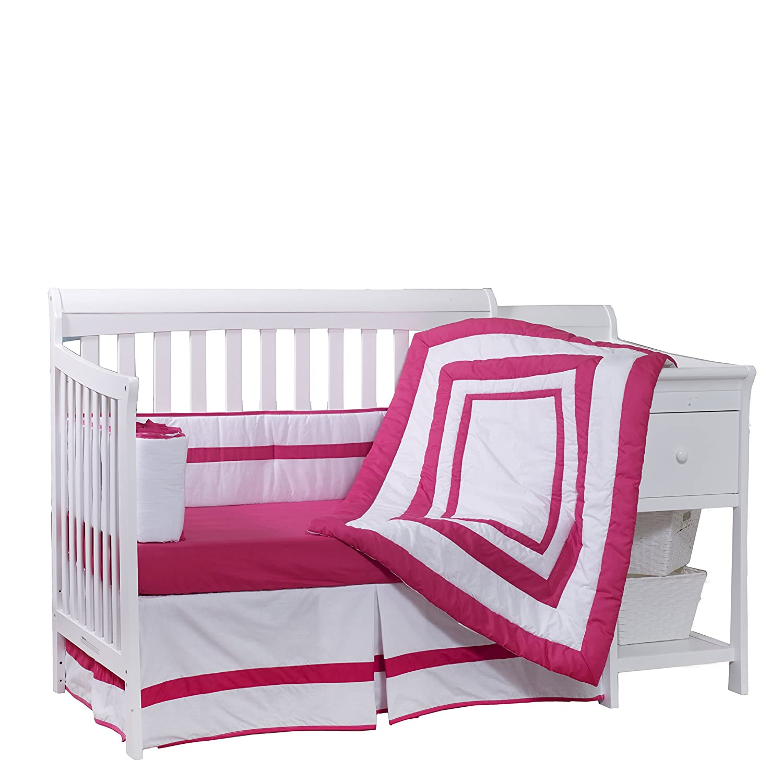 Pink BabyDoll Modern Hotel Style Crib Bumper