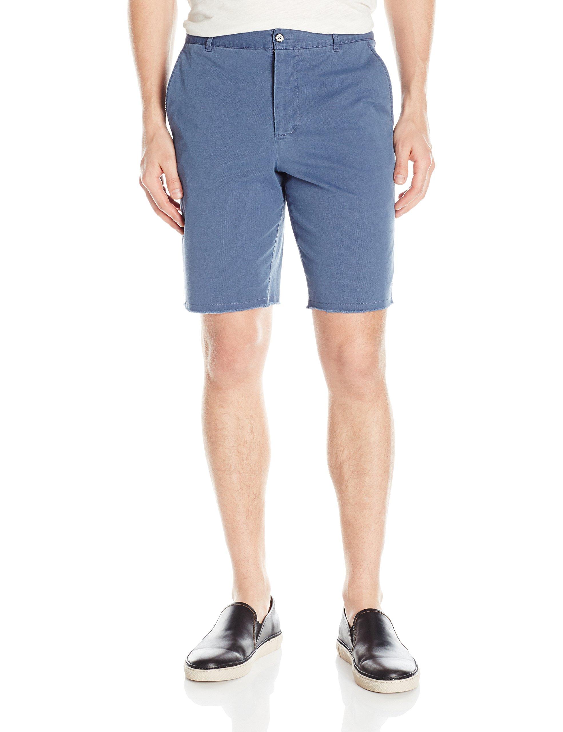 ATM Anthony Thomas Melillo Men's Sun Bleached Twill Shorts, Cadet 36