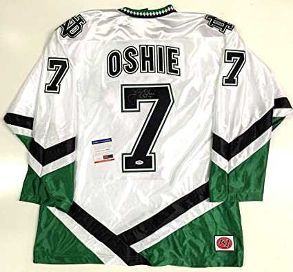 T.J. Oshie Signed Jersey - Tj North Dakota Fighting Sioux White Coa  Capitals - PSA  a8ad8ad3841