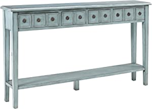 Powell's Furniture 16A8213T Sadie Long Console Table, Teal