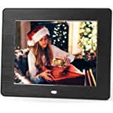 Micca M808z 8-Inch 800x600 High Resolution Digital Photo Frame With Auto On/Off Timer, MP3 and Video Player (Black)