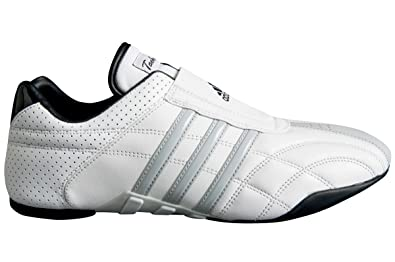 sports shoes a2646 d66aa adidas Taekwondo Adilux Shoes (4, White W Gray Stripe)