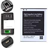 High Capacity Samsung Galaxy S3 Battery EB-L1G6LLA EB-L1G6LLU EB-L1G6LLZ + Universal Battery Charger With LED Indicator For Samsung Galaxy S3 SGH-I747 / Samsung Galaxy S3 SPH-L710 / Samsung Galaxy S3 SGH-T999 / Samsung Galaxy S3 SCH-R530 / Samsung Galaxy S3 SCH-I535 / Samsung Galaxy S3 GT-I9300 2300 mAh