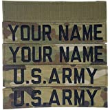 HERALDRY APPROVED REGULATION Multicam OCP Custom Name & US Army Tape with Velcro 4 Piece Set