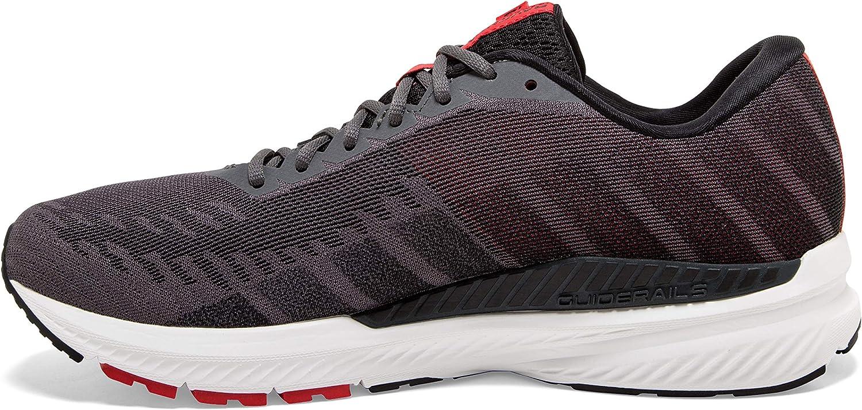 Brooks Mens Ravenna 10 Running Shoe Ebony/Black/Red