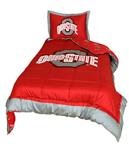 College Covers Ohio State Buckeyes Reversible Comforter Set   Twin