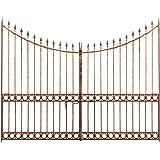 Cancello in ferro pieno 345x270h CM (H. centr.211 CM)