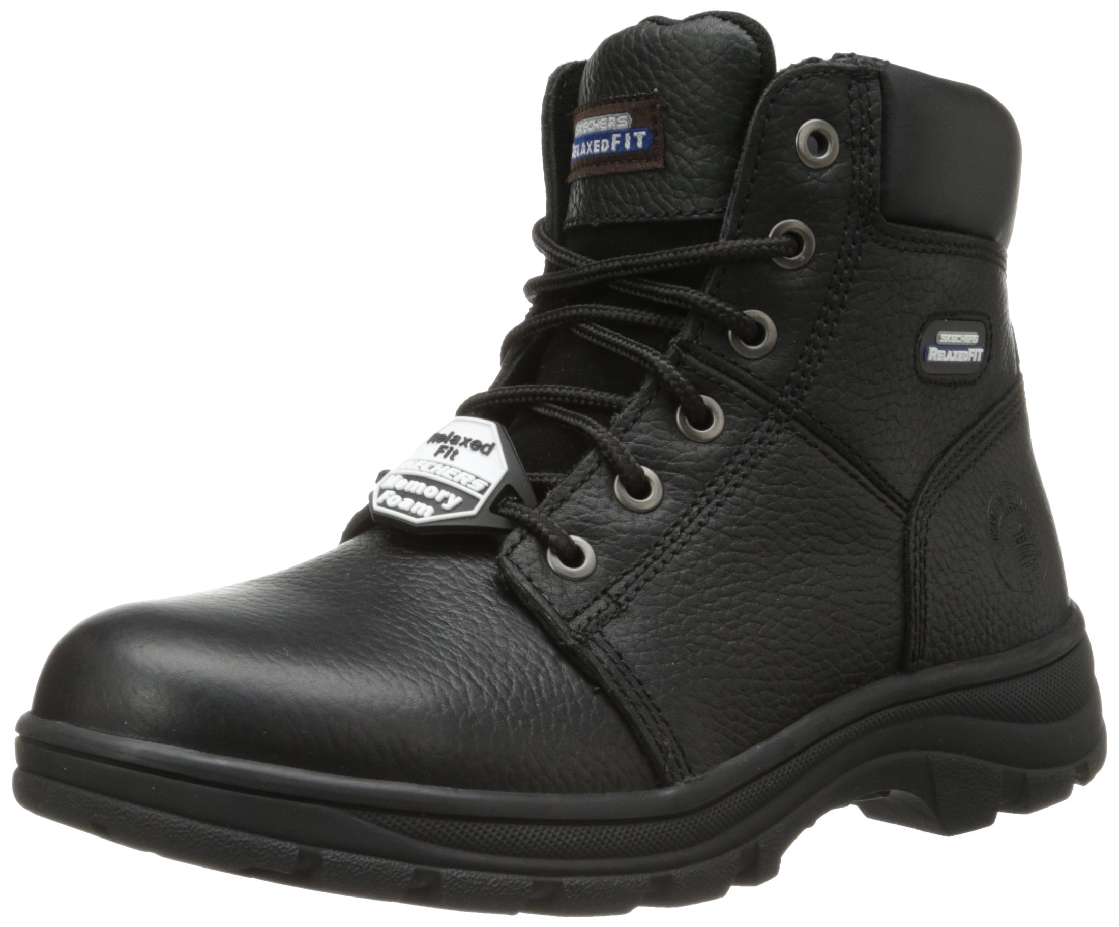Skechers for Work Men's Workshire Condor Work Boot,Black,13 M US