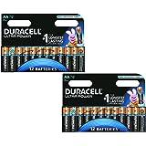 Duracell Ultra Power type de piles alcalines AA, 2x Lot de 12(24piles)