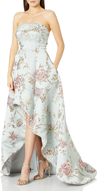 Mac Duggal Women's Floral Hi Lo Makkado Ball Gown
