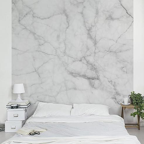 Vliestapete Marmor Optik Weiss Grau - Bianco Carrara - Fototapete