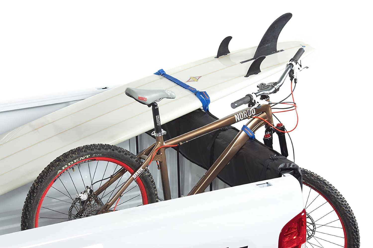 Softride 26457 A Pick Up Shuttle Pad Black 61 Tailgate Bike Rack for Bikes Surfboards or SUP