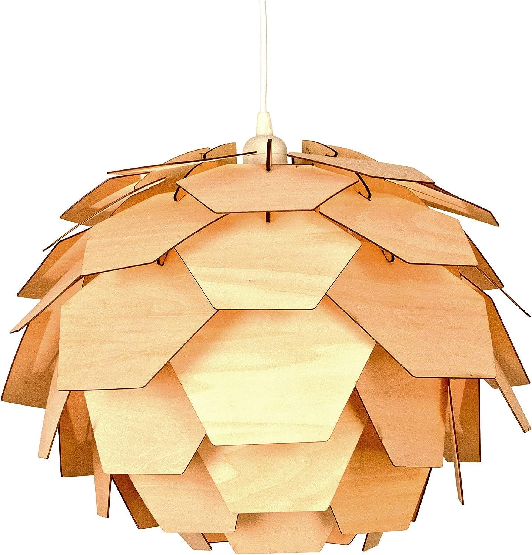 Aneta Carpatica - Lámpara de techo colgante contemporánea, madera ...