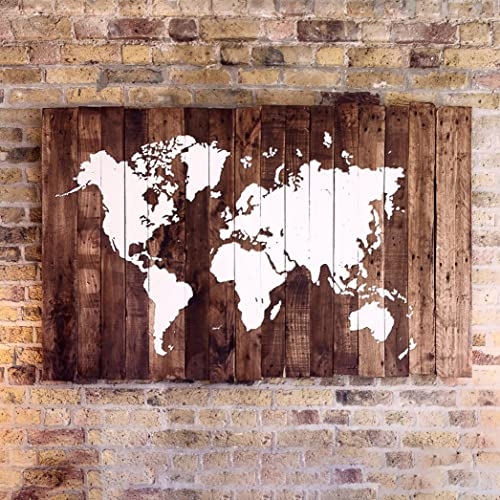 World map wood reclaimed pallet boards 192x120cm 76x47in world map wood reclaimed pallet boards 192x120cm 76x47in gumiabroncs Choice Image