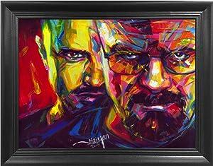 Breaking Bad Heisenberg 3D Poster Wall Art Decor Framed Print | 14.5x18.5 | Lenticular Posters & Pictures | Merchandise Gifts for Guys & Girls Bedroom | Walter White & Jesse Pinkman TV Show Series