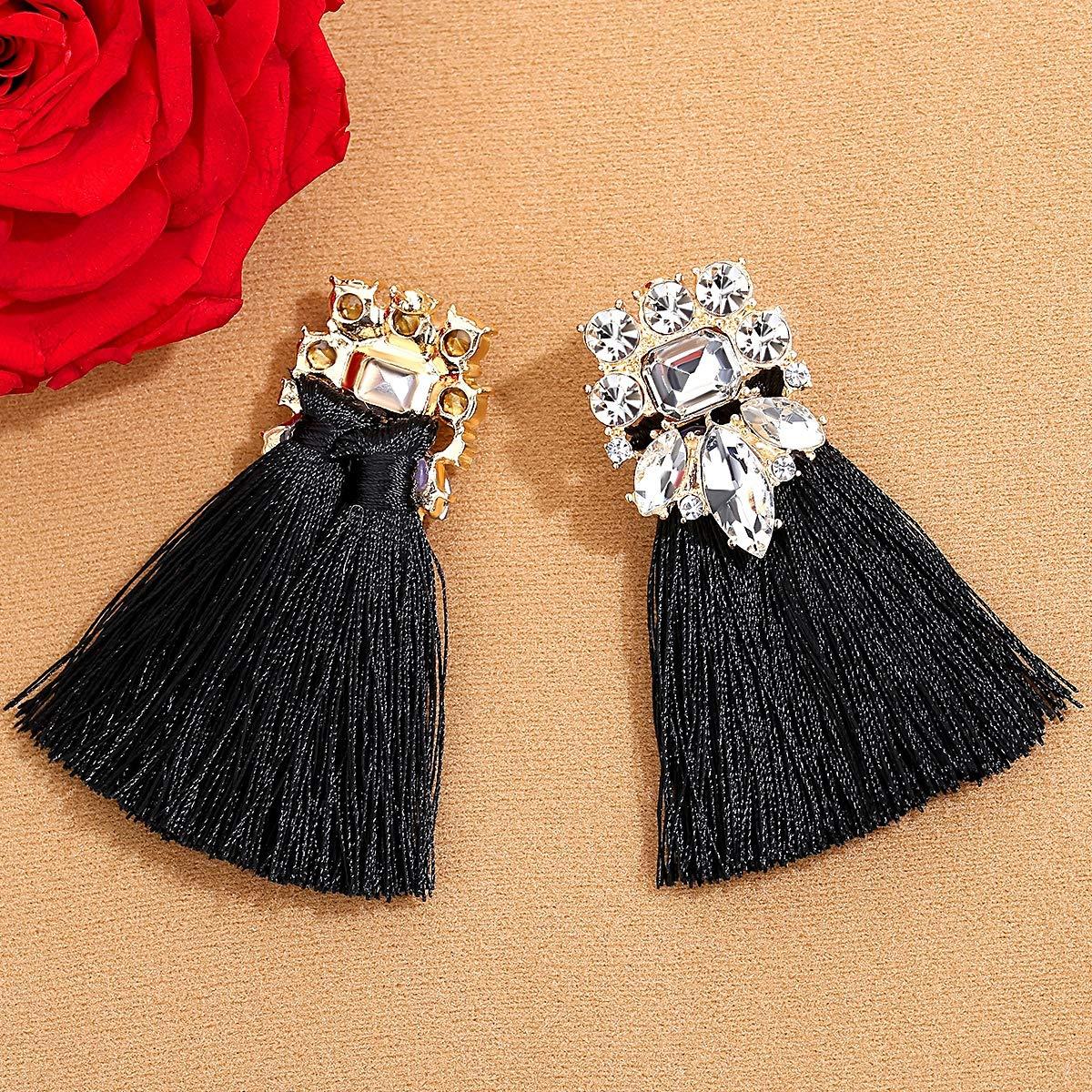 mecresh Tassel Fashion Christmas Hoop Bohemian Earrings for Women Girls