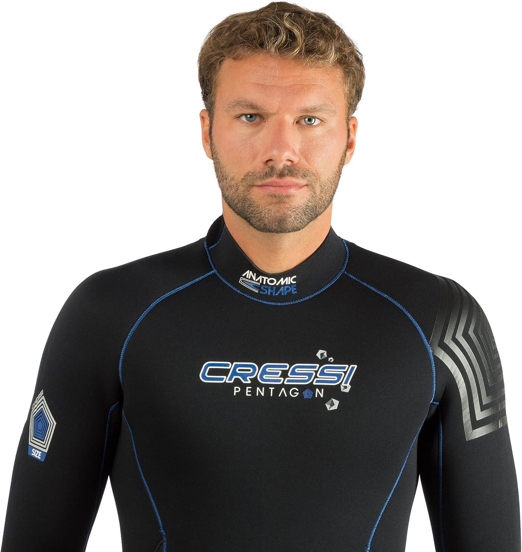Cressi Mens Full Wetsuit Back-Zip for Scuba Diving & Water Activities | Pentagon 5mm