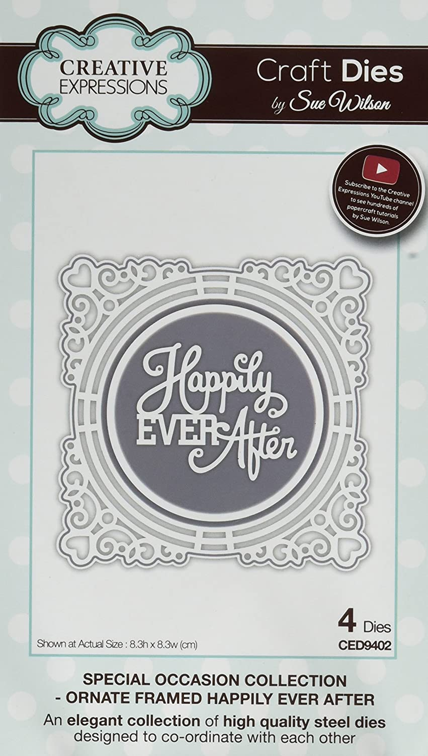 Sue Wilson CED9402 Special Occasion Ornate Framed Happily Ever After Dies Ecstasy Crafts Inc