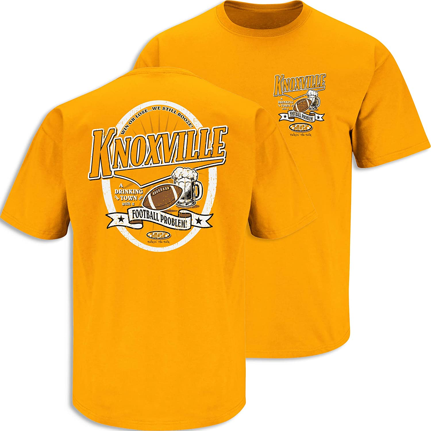 Smack Apparel Tennessee Football Fans Knoxville Drinking Town Orange T-Shirt Sm-5x