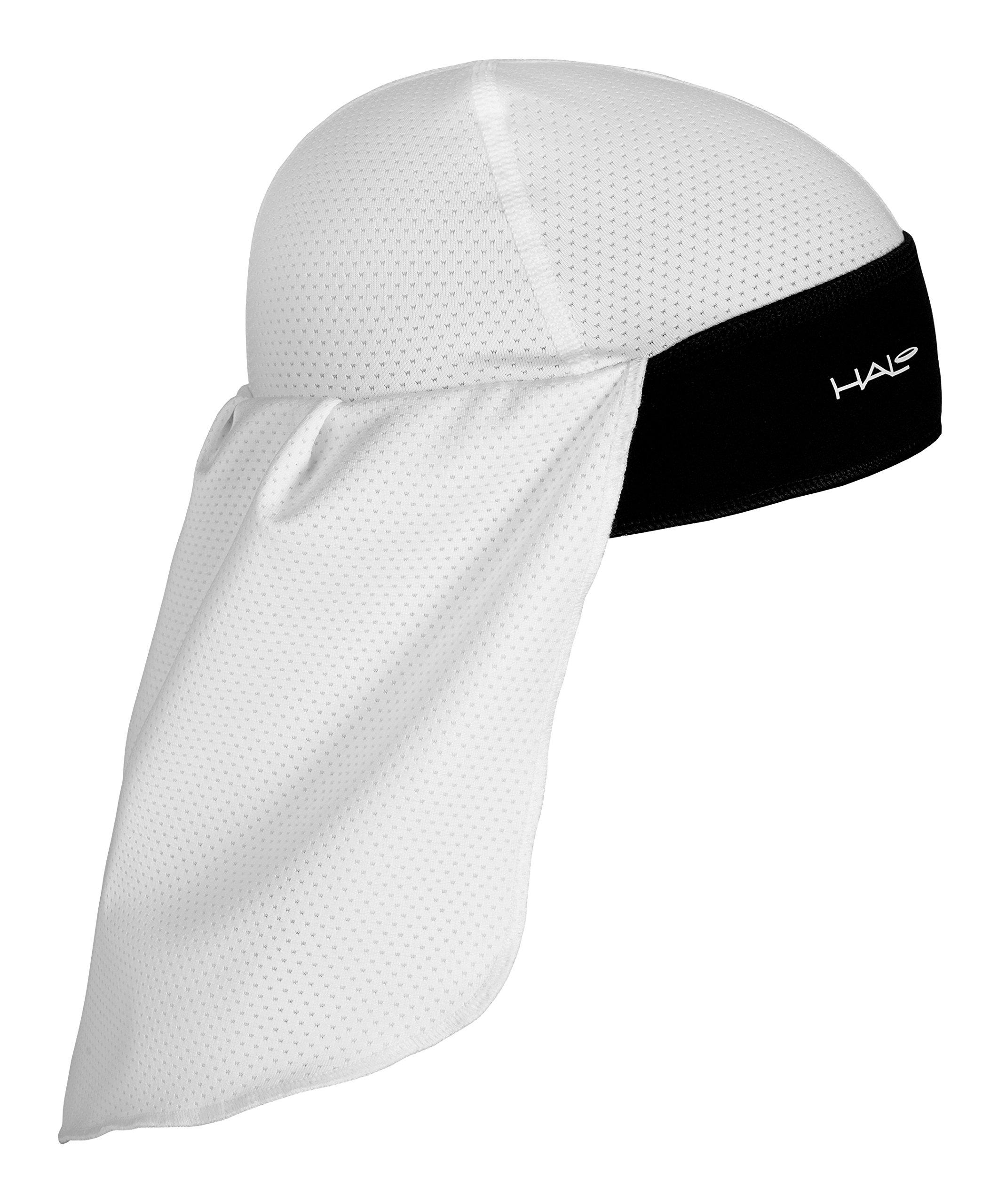 Halo Headband Solar Skull Cap & Tail, White