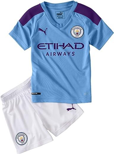 Puma Manchester City 2019/20 Junior Kids Mini Home Football Kit Blue