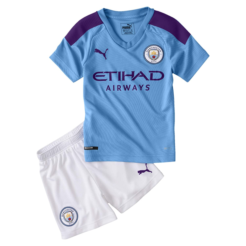 PUMA Manchester City Kids Home Kit 2019/20-4-5 Years: Amazon.es ...