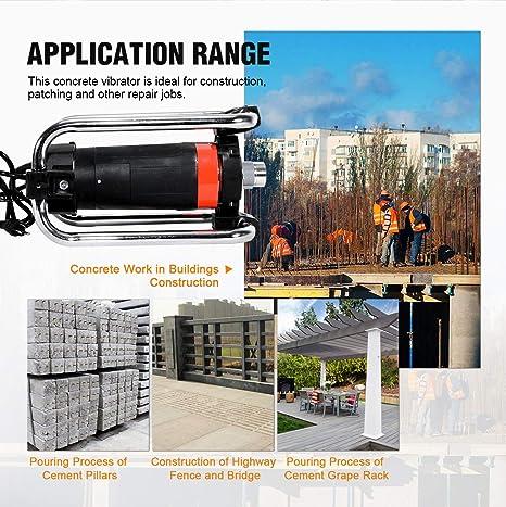 chengshiandebaihu 2m vibrateur concret Moteur Durable Dispositif Vibrant Machine vibrante Portable 230V Outils de Construction Prise UE
