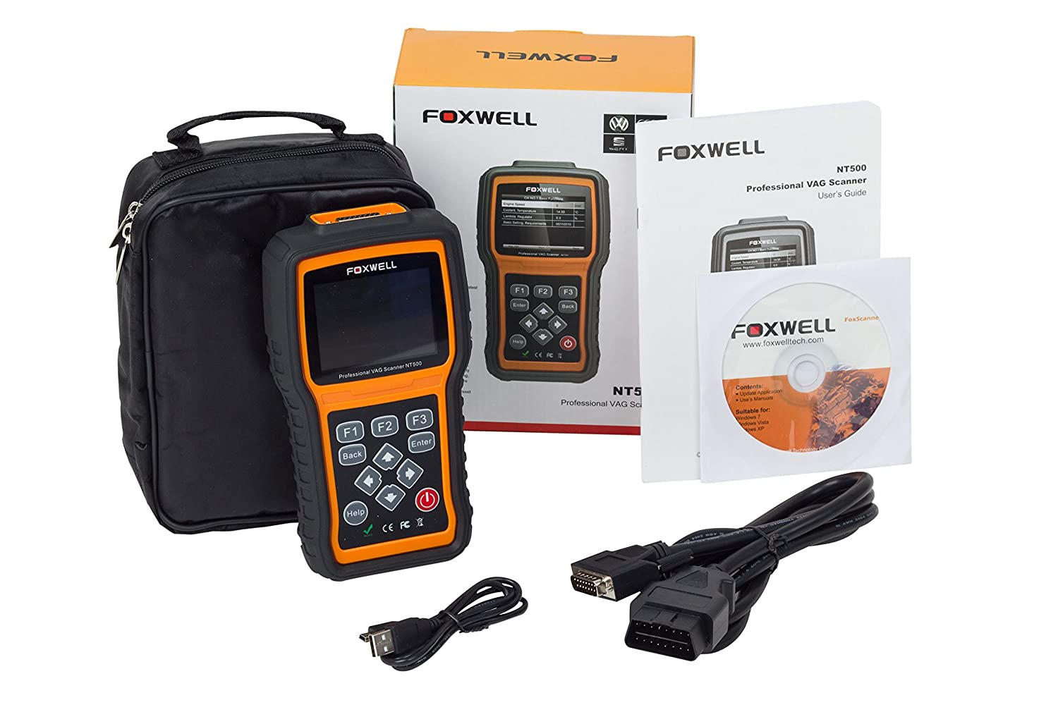 W Mega Foxwell UK Pro NT500 VAG VW Audi Seat Skoda ALL System Diagnostic KY67
