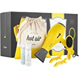 Let it Blow! It's Drybar to Go The Ultimate Travel Essentials Kit - Baby Buttercup Travel Hair Dryer, Lil' Lemon Drop Daily Detangler Hair Brush, and more
